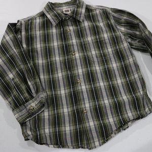 Faded Glory Green Stripe Button Dress Shirt 5T